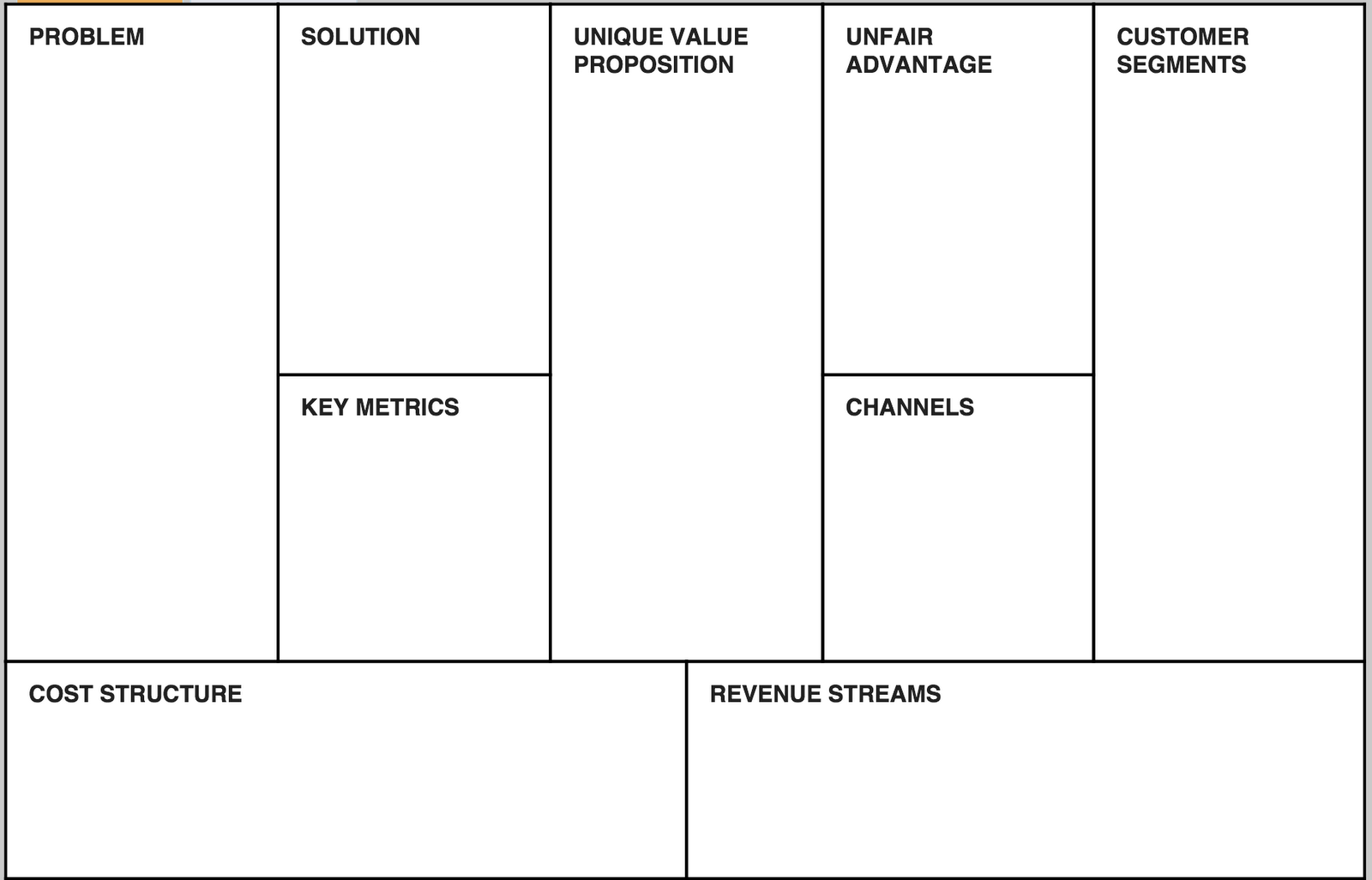 solution approach document template - lean canvas darryl snow medium