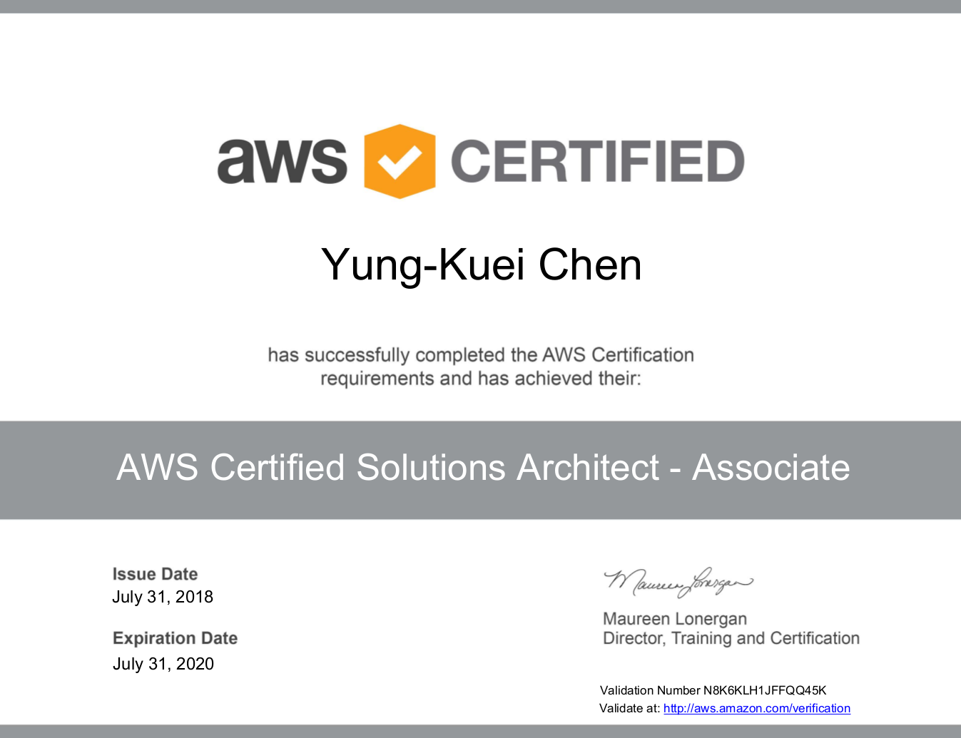 My Aws Solution Architect Association Certification Journey
