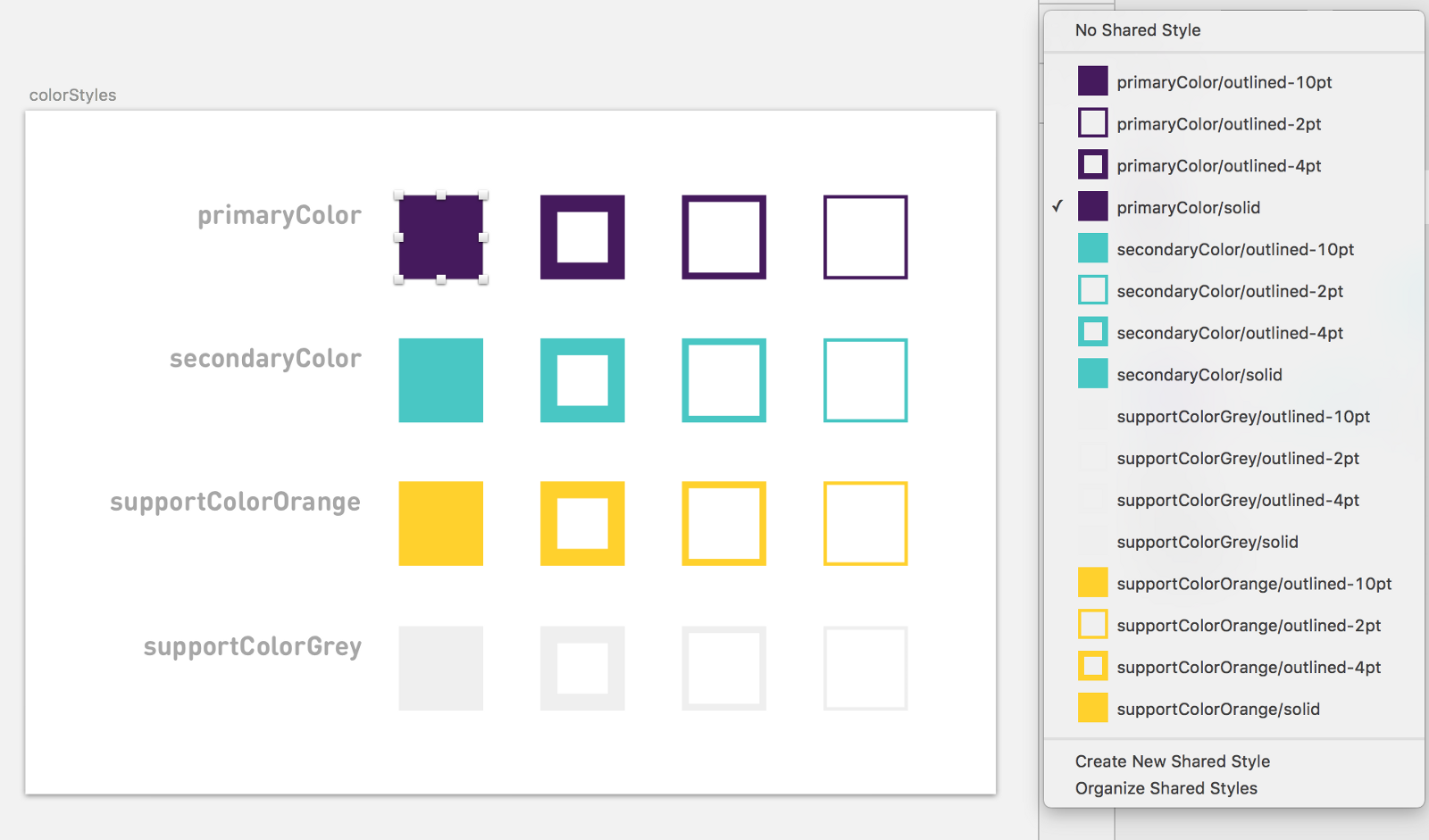 Using shared styles and symbols in sketch design sketch medium your colors may already have names like primaryfirefoxred or googleblue in which case use those names here instead buycottarizona