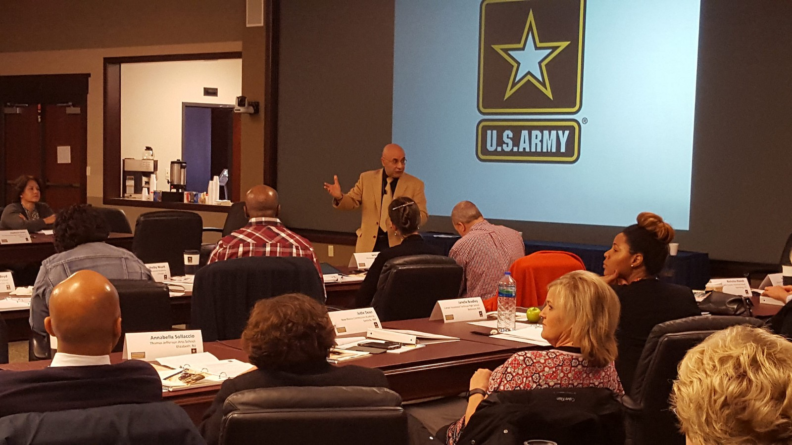 Dr. Mahir J. Ibrahimova, Program Manager at the US Army Combined Arms Center's Culture, Regional Expertise and Language Management Office (CRELMO), leads a session on how to be a culturally aware leader at the 2015 US Army Leadership and Professional Development Symposium