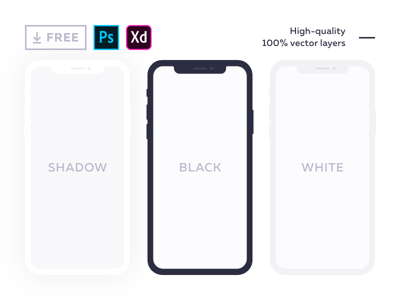 20 Free iPhone X Mockups [PSD, Sketch] – UX Planet