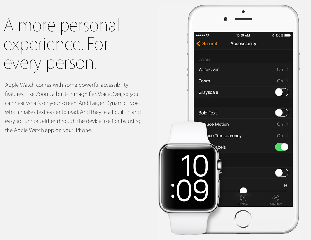 Apple Watch Accessibility roundup