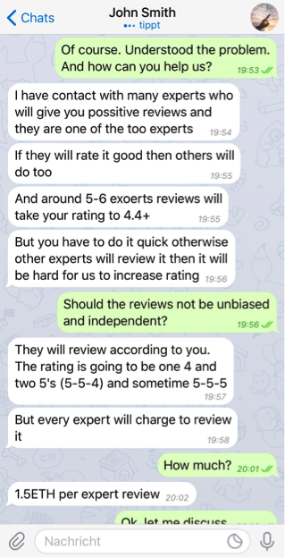 Expert Rating Reviews >> This Is How Easy It Is To Buy Ico Ratings An Investigation