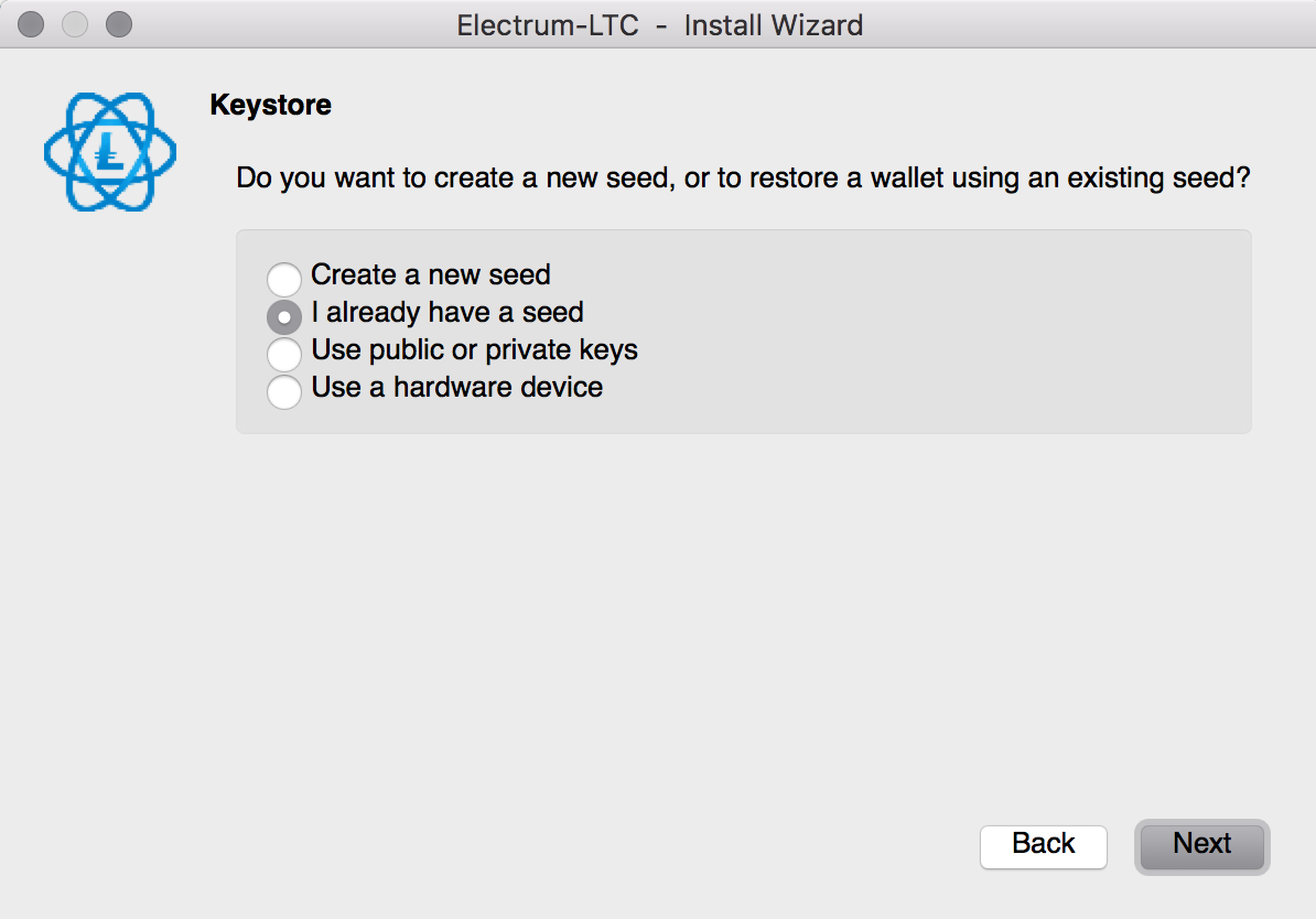 how to get private keys electrum litecoin wallet