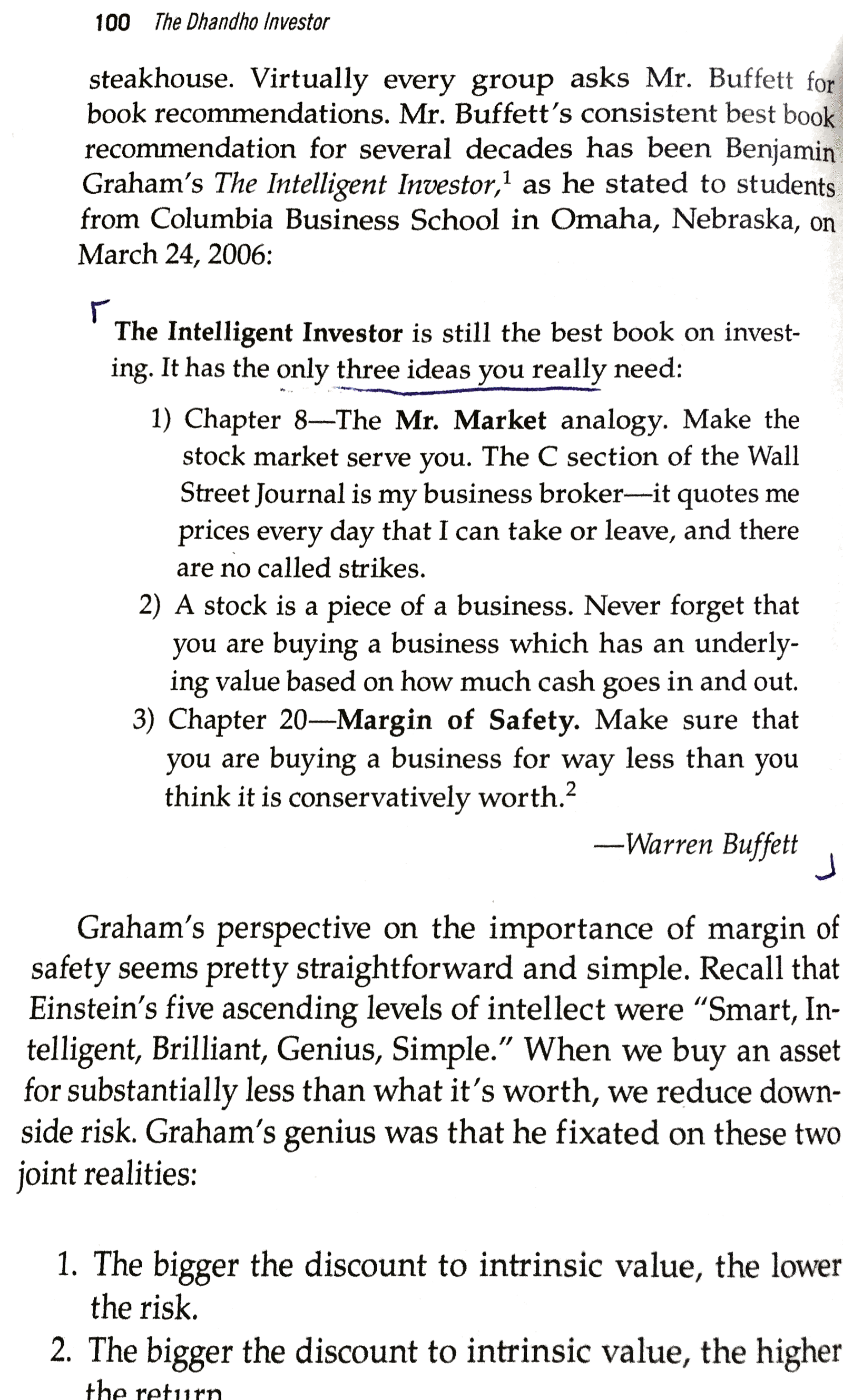 Let s look at it from an investment prospective if a company had - Buffett S Summary Of The Intelligent Investor