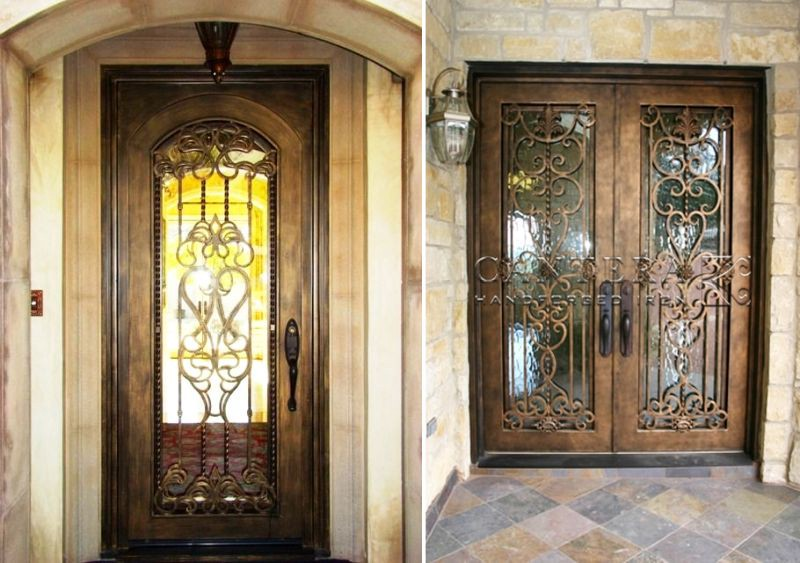 Moreover, They Are Available In Different Designs That Can Be Painted In  Color Of Your Choice. Your Iron Fiberglass Door Can Be One Of The First  Things That ...