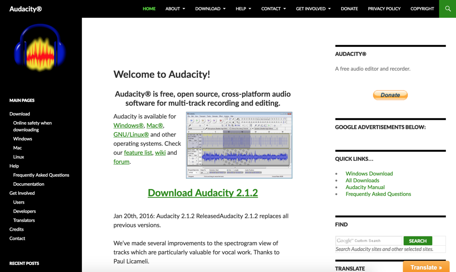 Audacity — It's no ProTools but it gets the job done