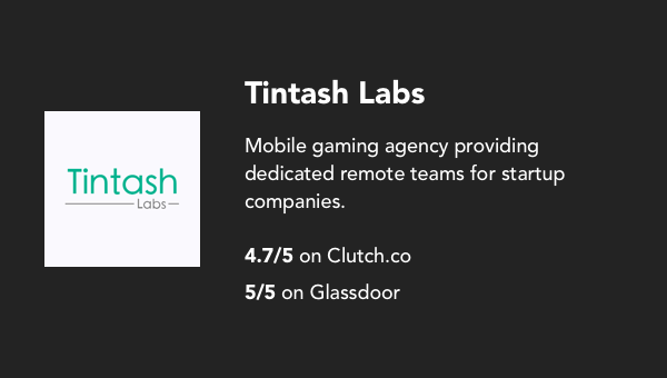 The best mobile app development agencies in the world for every budget who they are tintash is a mobile gaming agency with offices in sequel california and lahore pakistan it was formed by stanford university alumni ten malvernweather Choice Image