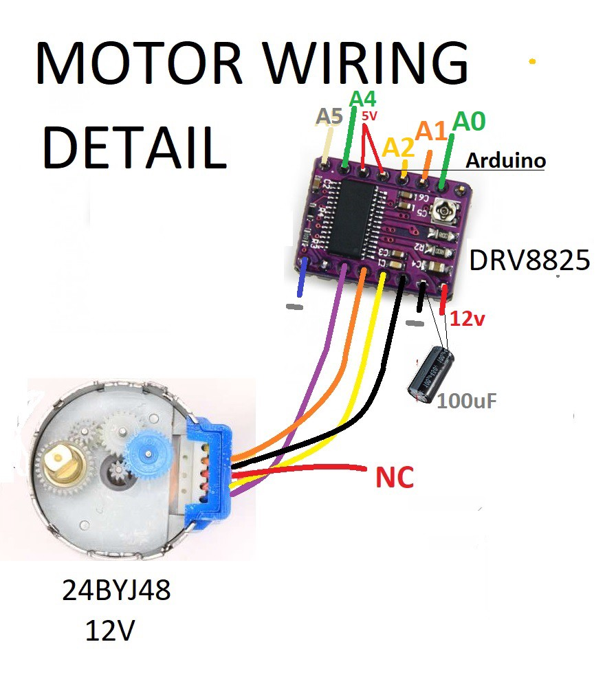 drv8825 driver   stepper motor 24byj48 jungletronics wiring a potentiometer to a motor Potentiometer Wiring Connection Diagram