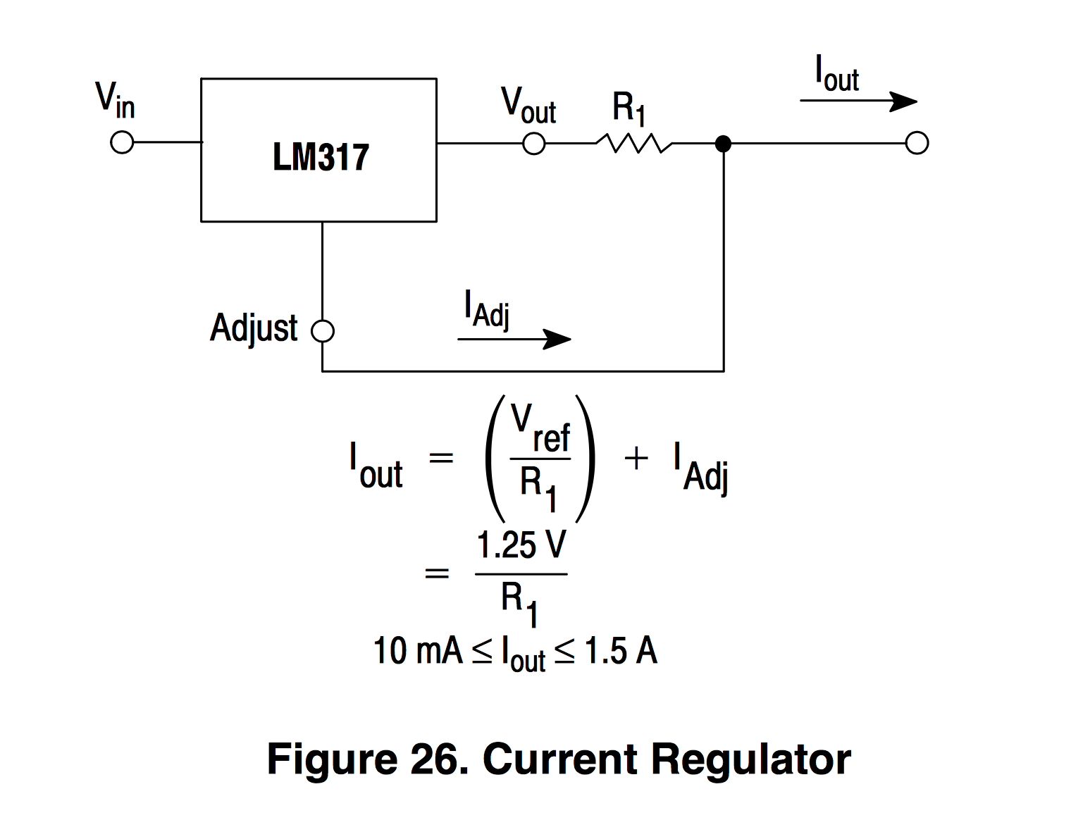 Voltage Regulators Revisted Lm317m 7812 Mcp170x Mic5219 And Icl7660 Divider Network Has The Ability To Generate Different Voltages This Current Regulator Circuit Is Even Simpler Than Using Lm317 As A Which Requires Two Resistors Create