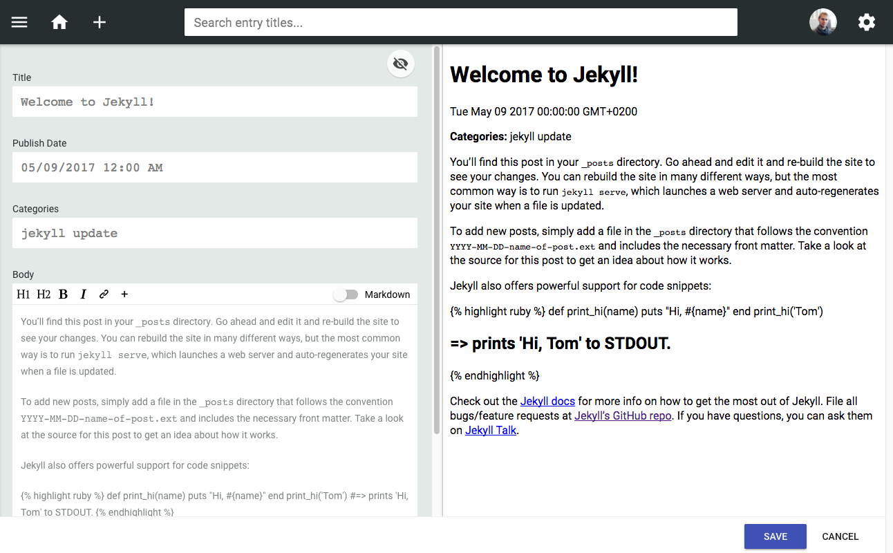 10 steps to configure Jekyll with Netlify as a CMS – MVP Space