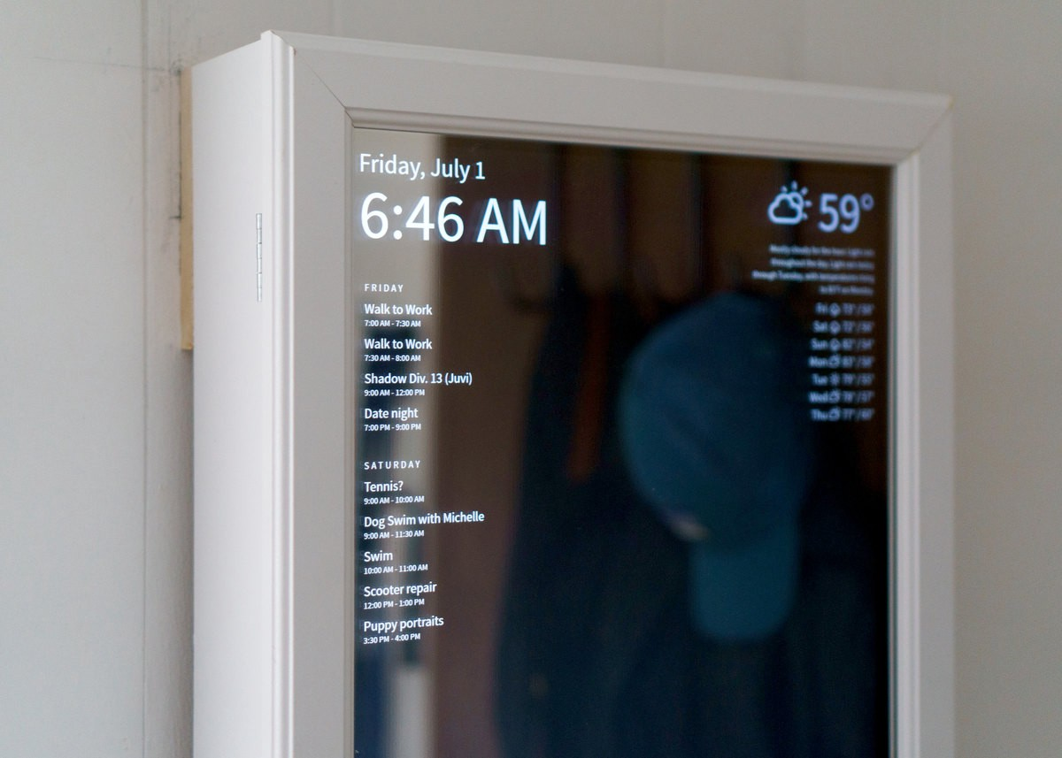 How To Make A Smart Mirror Using An Old Monitor A Chromecast A
