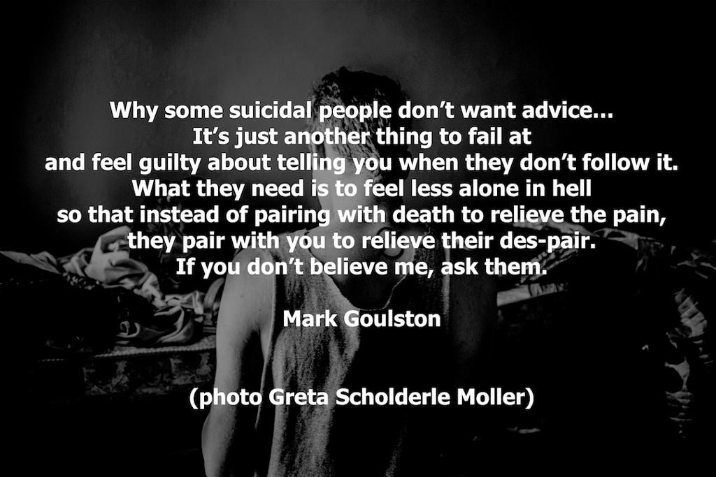 Why People Kill Themselves Part 2 Its Not Depression