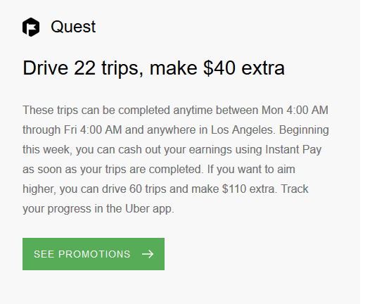 94270aa033e Every week, I get an email from Uber that tells me what the new promotion  will be.
