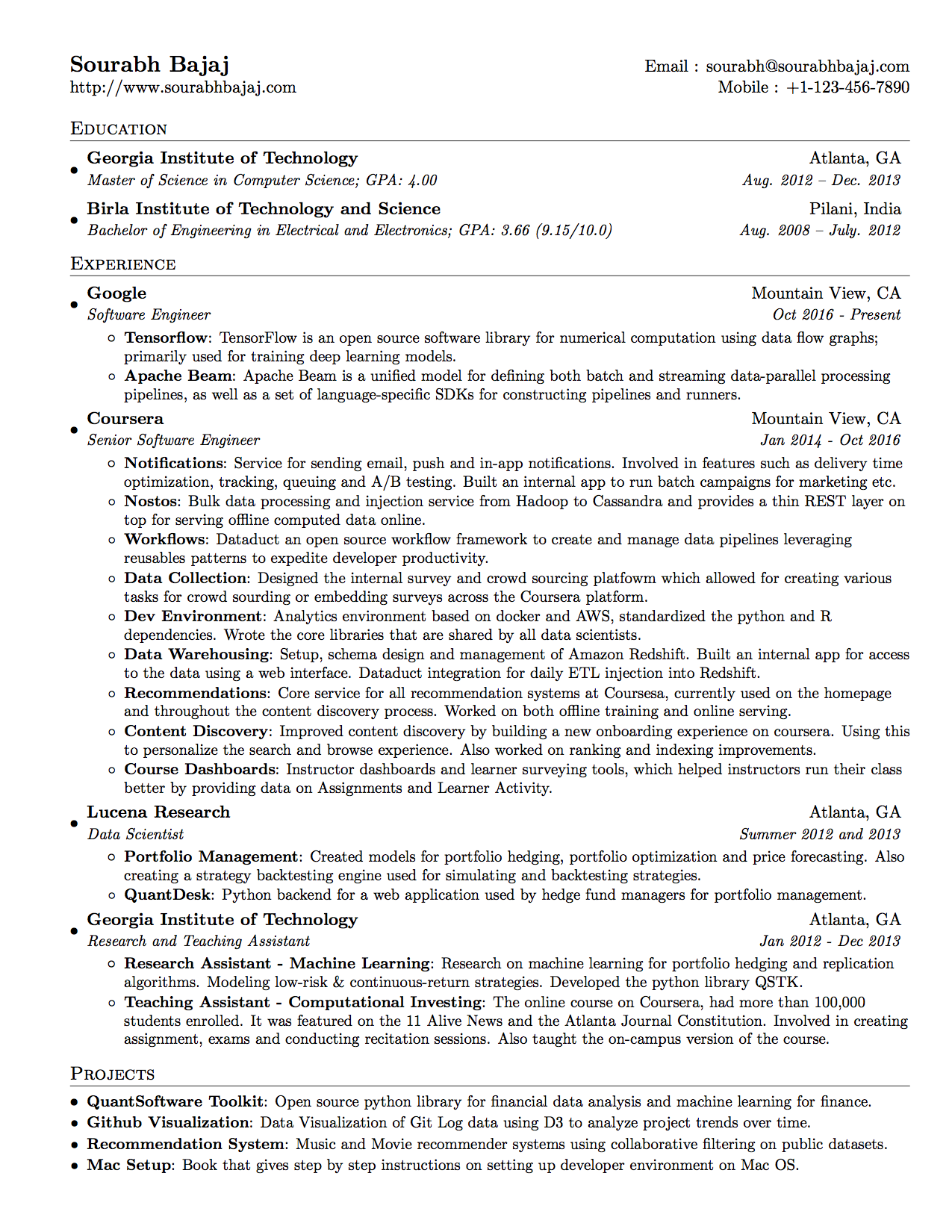 tips on building a data scientist�s resume � michael l