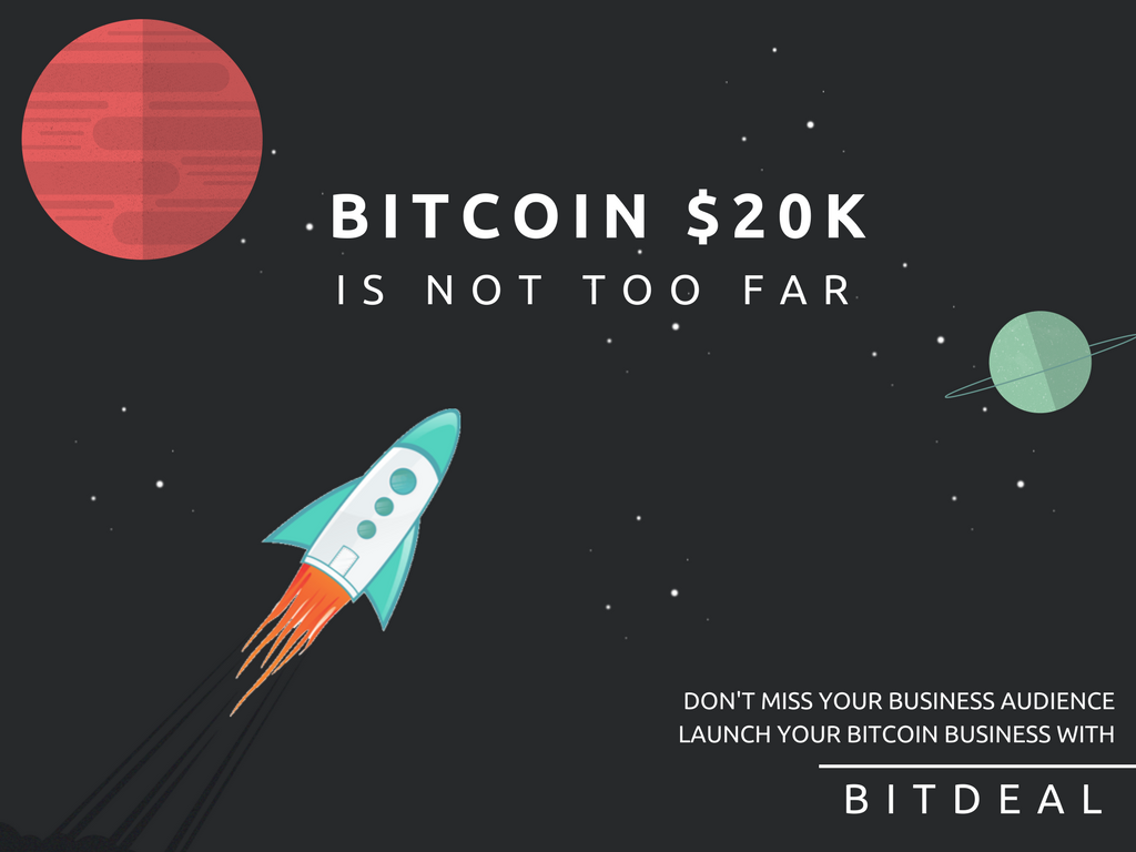 Bitcoin price is about to touch $20k — A perfect time to start bitcoin business!