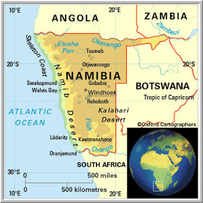 Namib Desert On Africa Map.Massive Floods Namibian Desert Crop Price Roundup