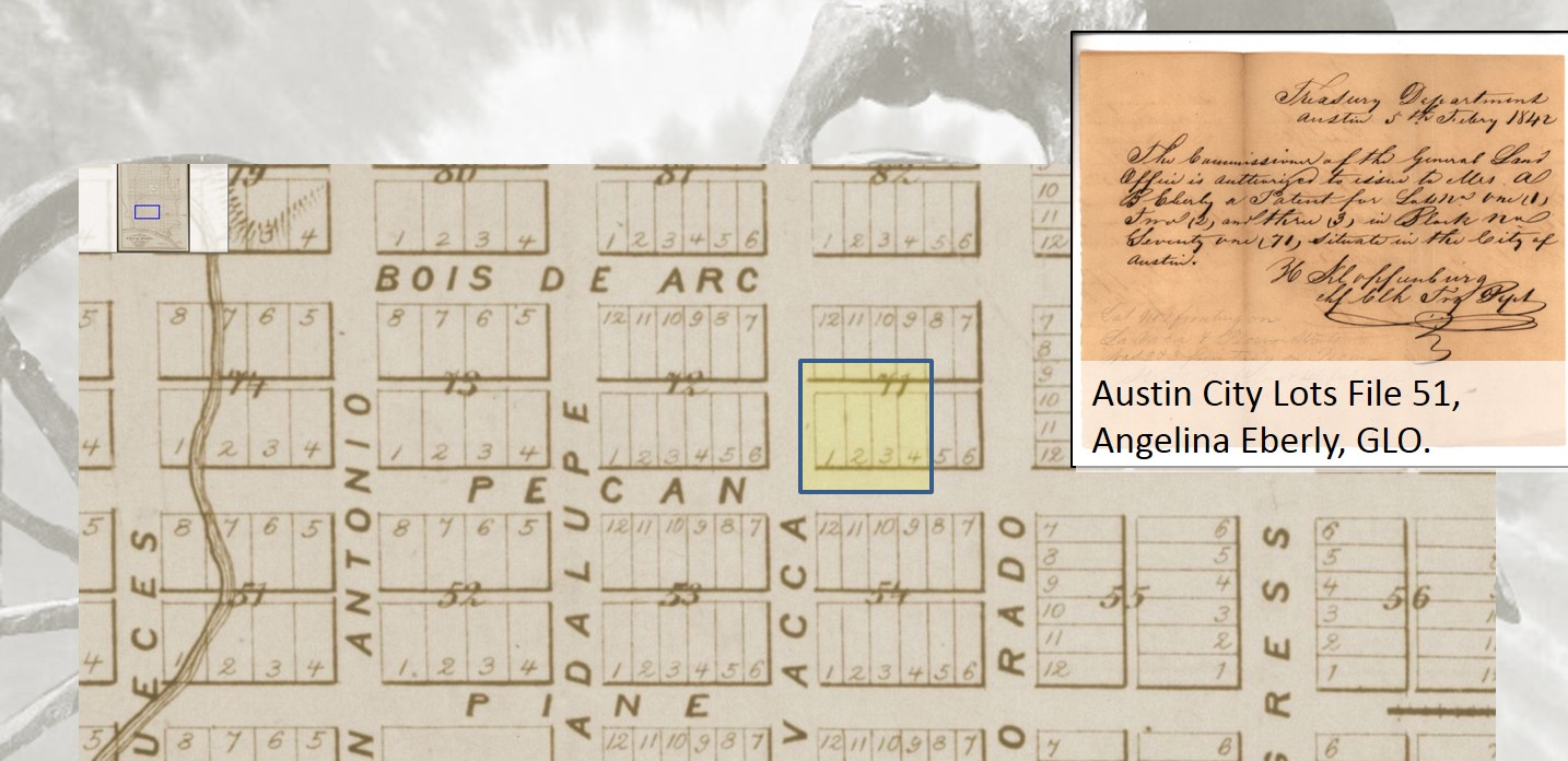 The Other Side Of Archives War How Republic Texas And Jacinto 5 Block Diagram Angelina Eberly Purchased Lots 14 On 71 Corner 6th Lavaca From Through General Land Office In February 1842