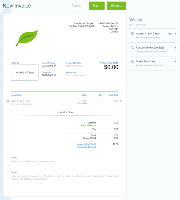 FreshBooks Accounting Software That Makes Billing Easy - Invoice accounting software