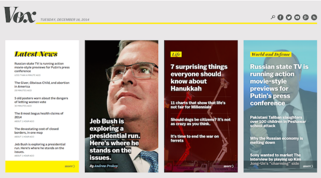 You Can Have A News Website That Was Created For One Story The Homepage Is And Like This Piece Called Most