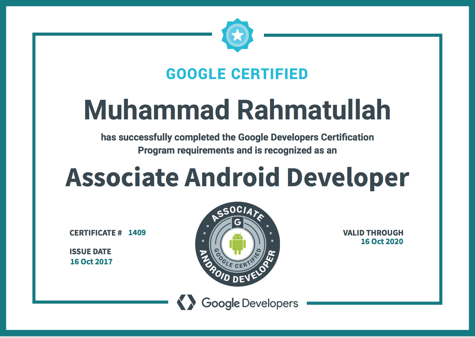 Journey To Be Google Certified Associate Android Developer