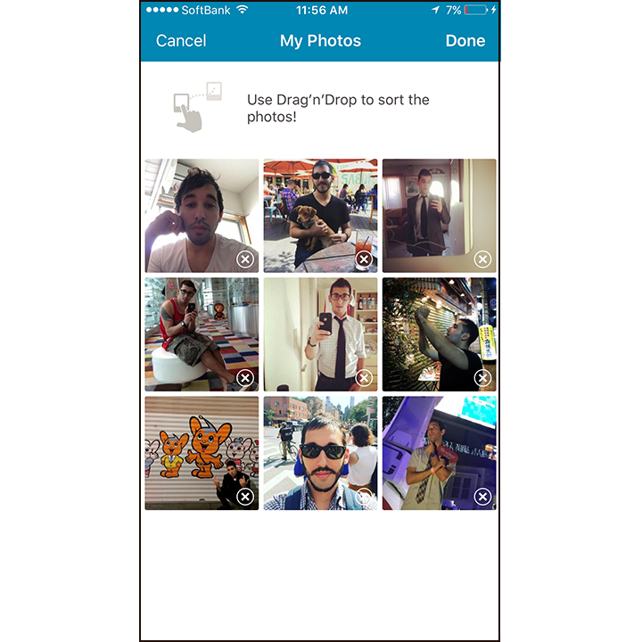 All of your photos can be edited as well. Happn lets you upload a maximum  of 9 photos which is 4 more than the usual 5 or 6 we see on other dating  apps.