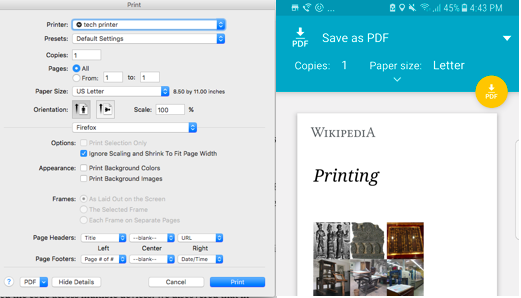 firefox print to pdf like chrome