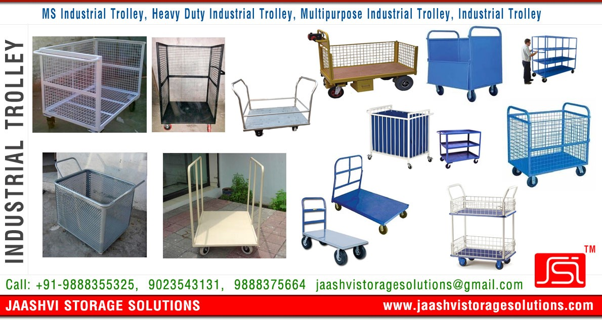 Industrial Storage Racks Trolleys Slotted Angle Racks