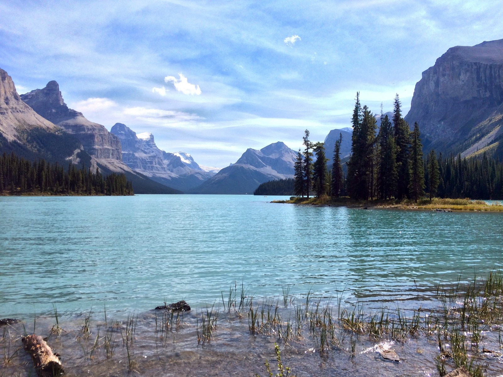Maligne Lake Is One Of The Most Beautiful Places Ive Ever Been Paid To Go I Remember Standing On Shore Spirit Island Far End