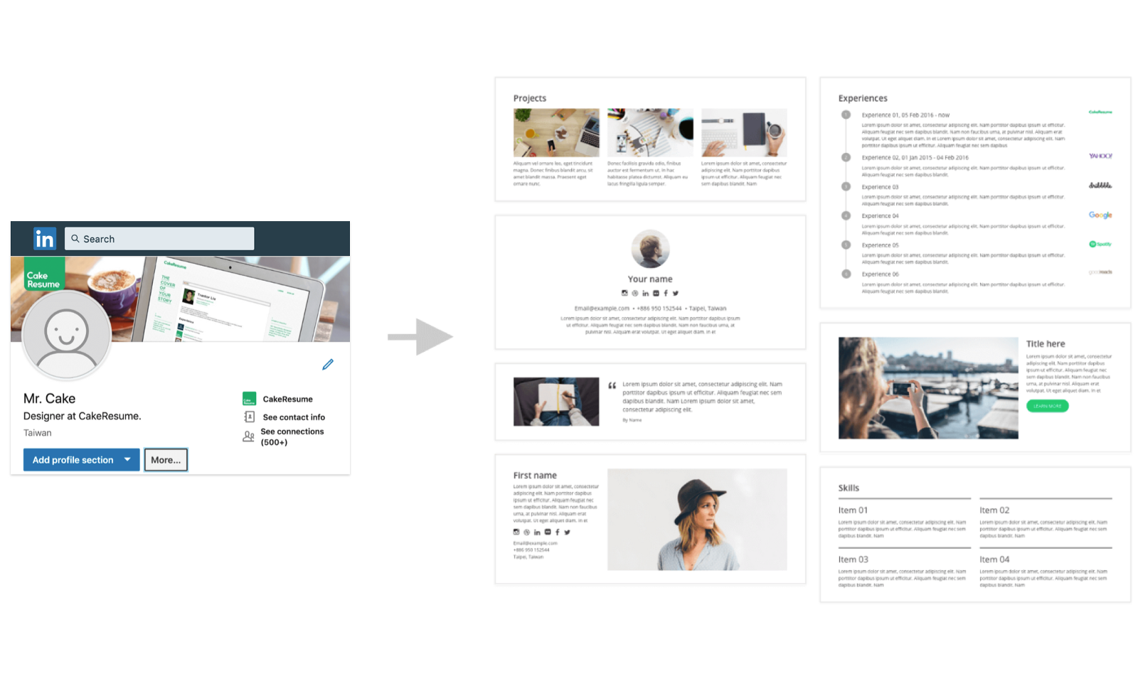Turn Your LinkedIn Into A Beautiful Custom Resume With CakeResume