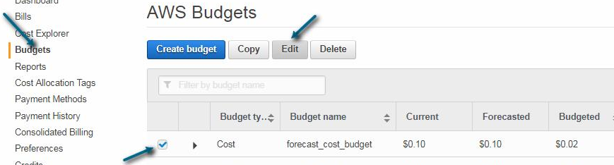 How to avoid unexpected expenses on AWS account by setting a billing