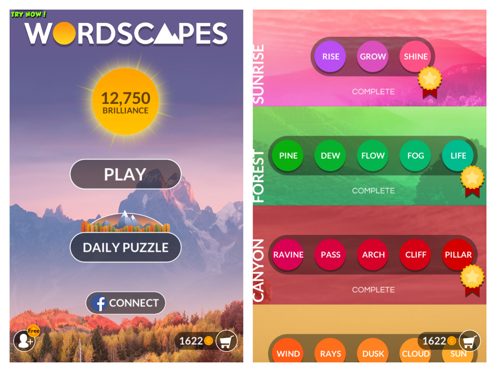 Playing Games Has Its Benefits Wordscapes A Brain Challenging