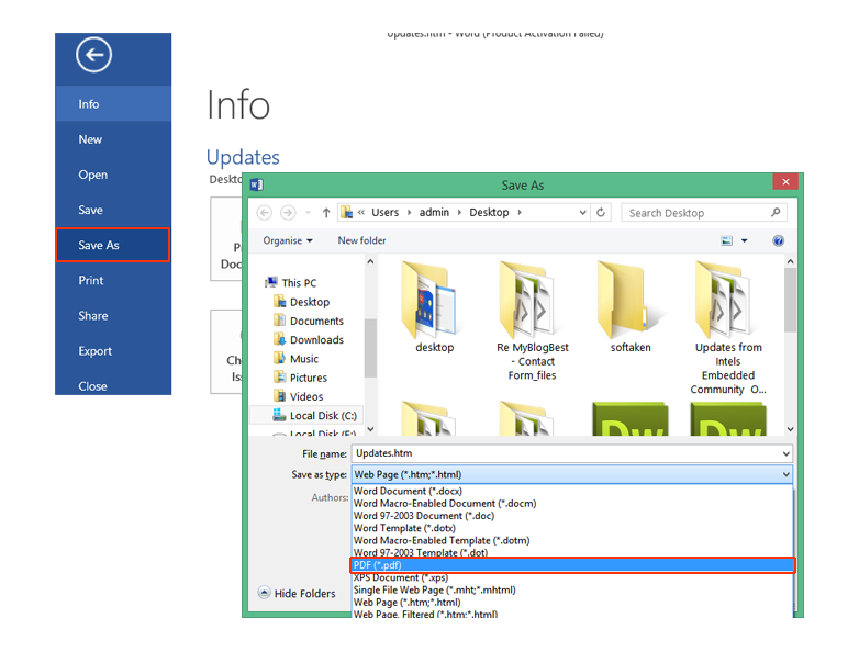 how to save outlook emails as pdf