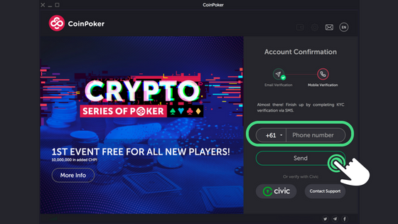 Guide to Getting Started on CoinPoker Step 7