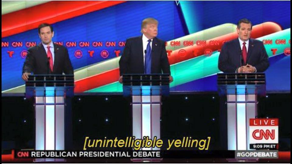 Unintelligible Yelling - Republican Debate