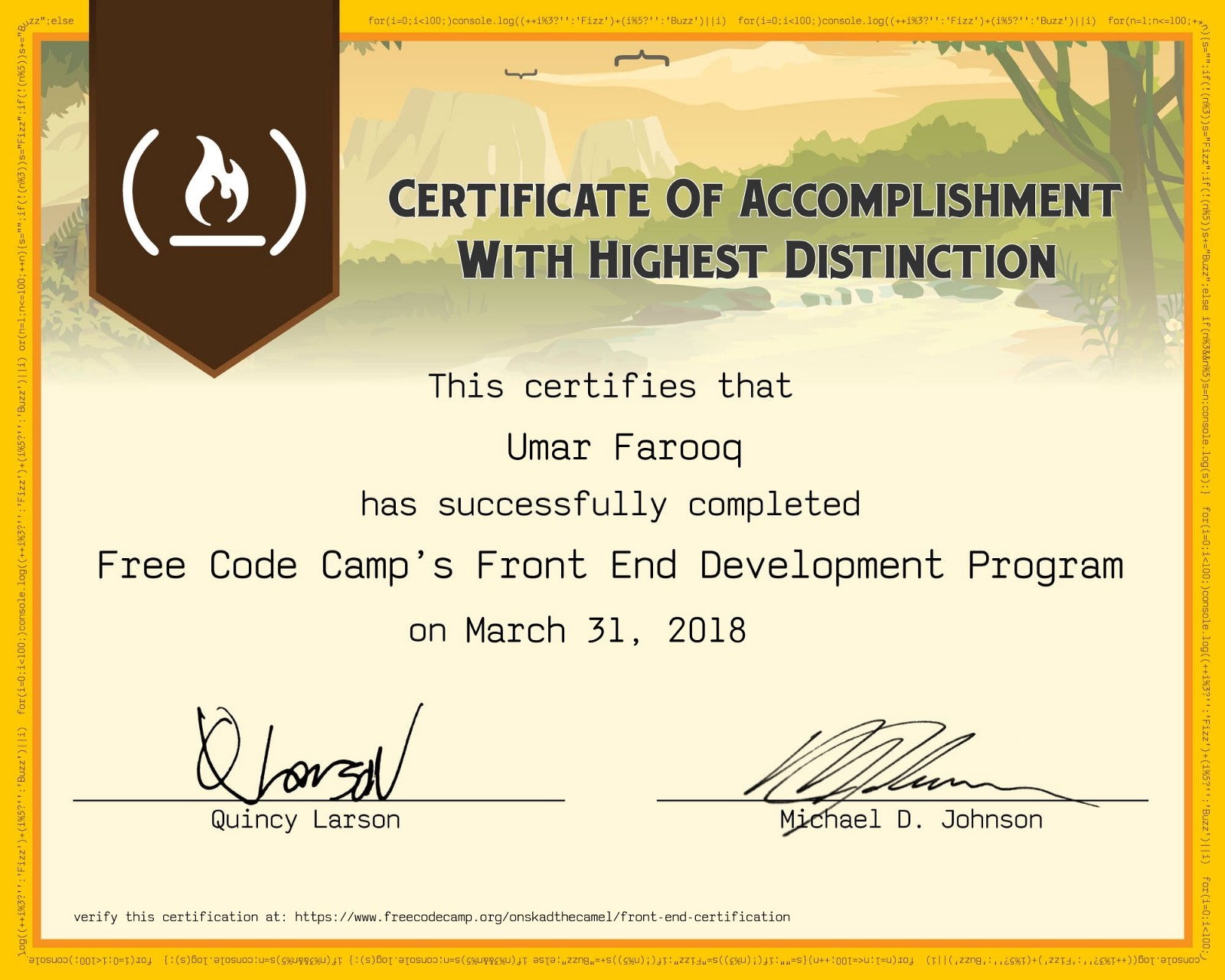 Earning My Freecodecamp Front End Development Certification