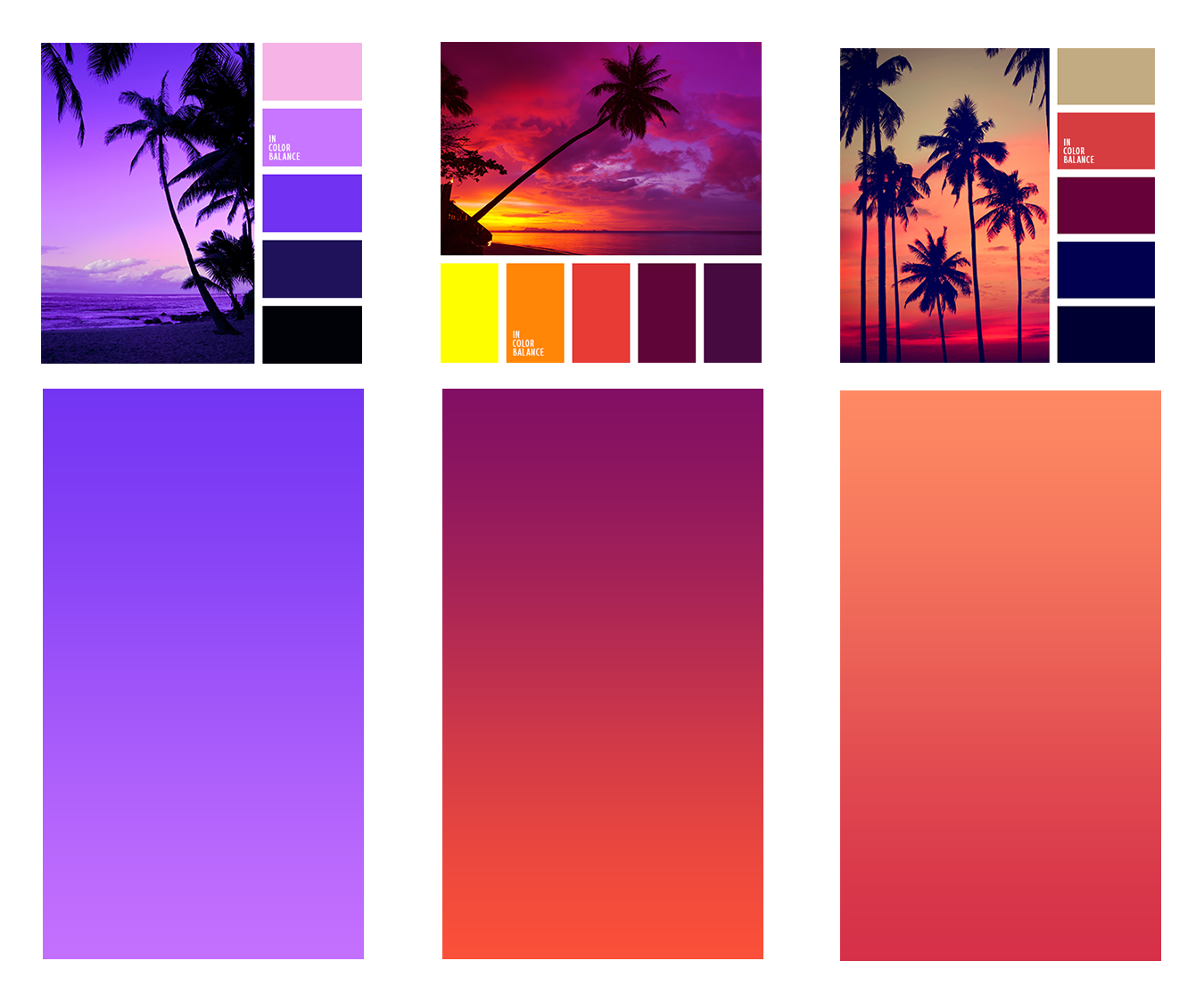 Image result for Bright, bold colors and gradients