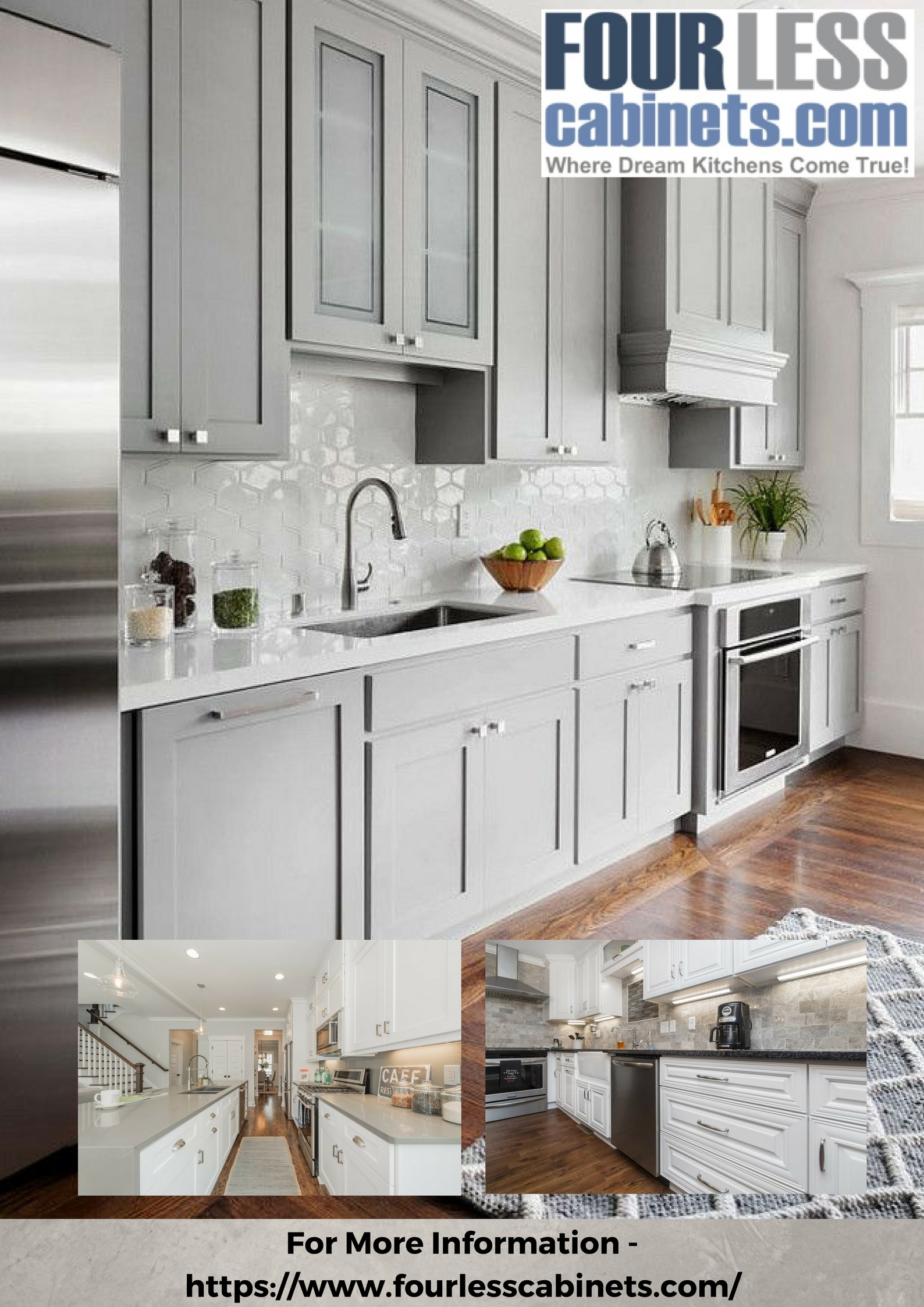 These Shaker Kitchen Cabinets Are Made Of Solid Wood With Panel Full Overlay Doors Modern Come Extension Soft Close Glide