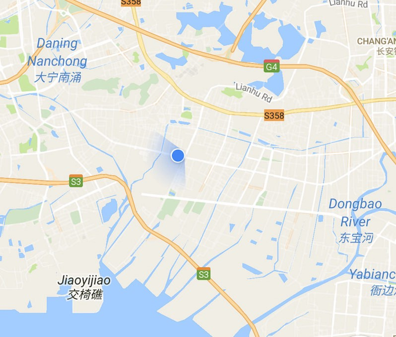 The factories tend to be a short ride north of Shenzhen proper. Image: Google Maps.