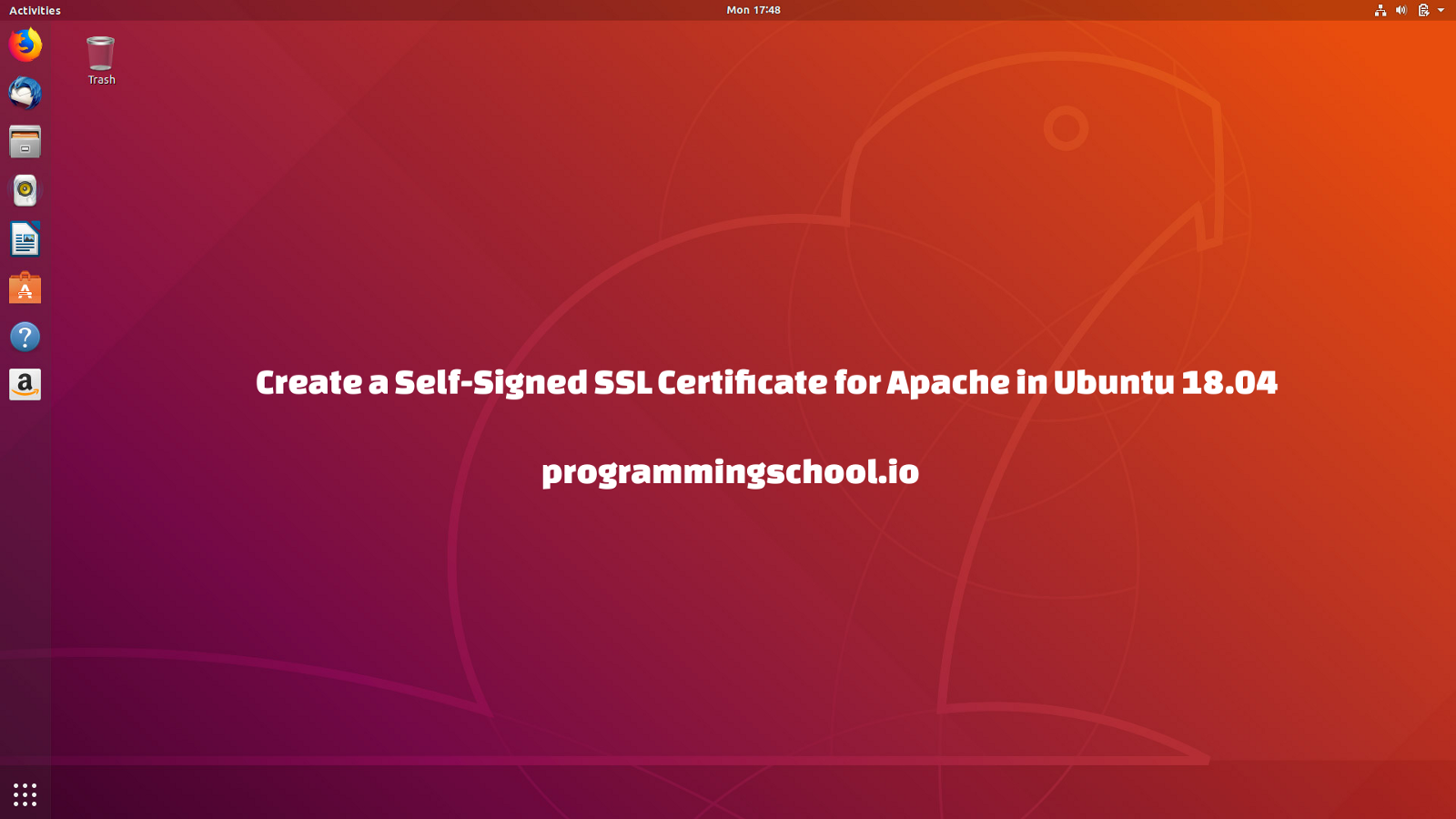 Create A Self Signed Ssl Certificate For Apache2 Http In Ubuntu 1804