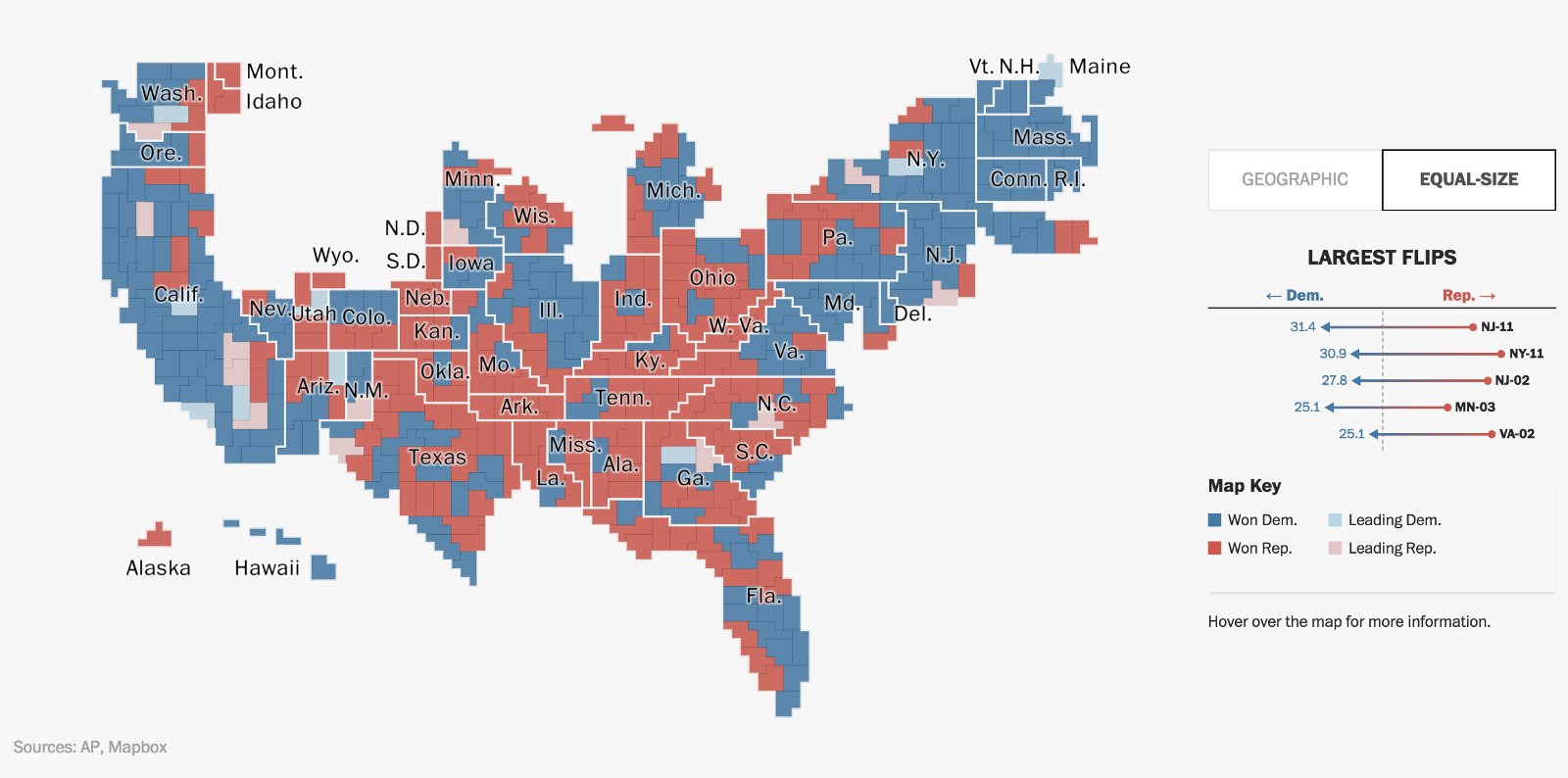 Washington Posts Electoral Maps How We Built It Points Of Interest - Us-election-map-interactive