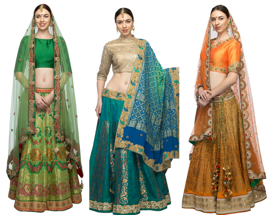 2cbd78ad6d It is advisable that the dress that is chosen for the bride should be done  after lots of thoughts and experiments. For curvy bodies lehengas are the  ideal ...