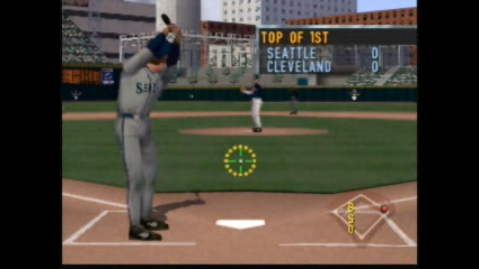 51c998a3ec A look at the hitting interface, prior to a pitch. Alex Rodriguez is at the  plate.