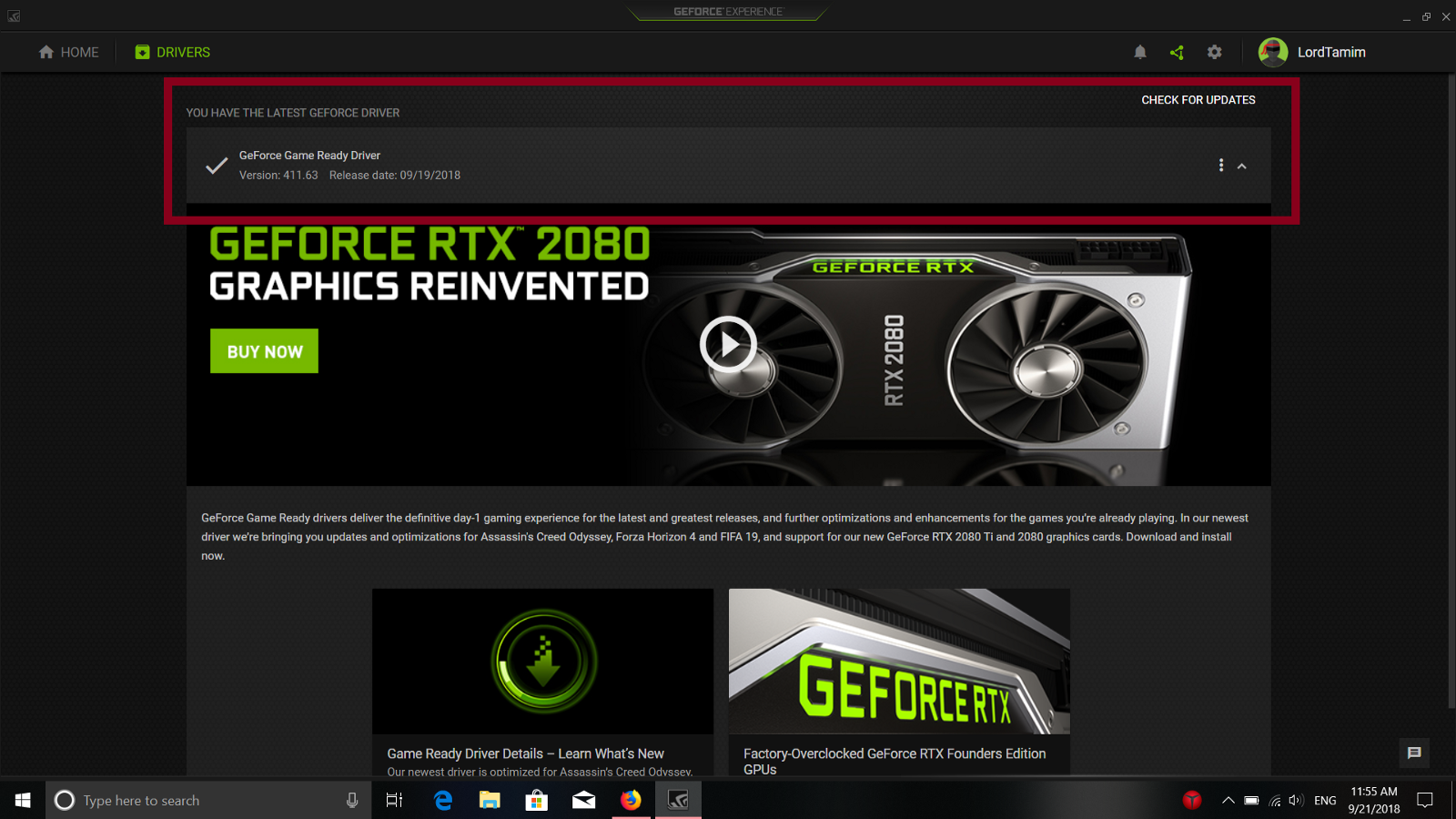 geforce experience download driver unable to connect to nvidia
