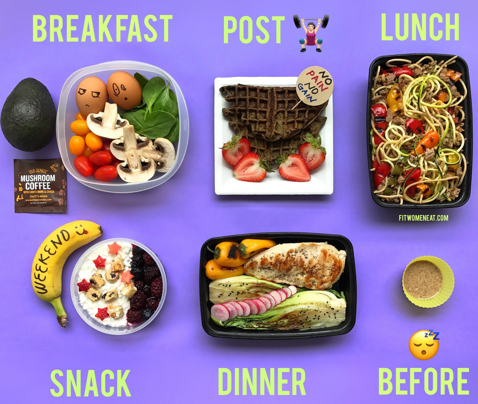 meal prep plan for the weekend fit women eat
