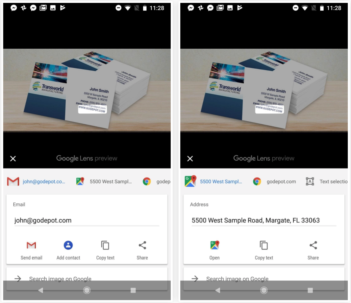 How To Use Lens in Google Photos to Create Contacts from Business Cards