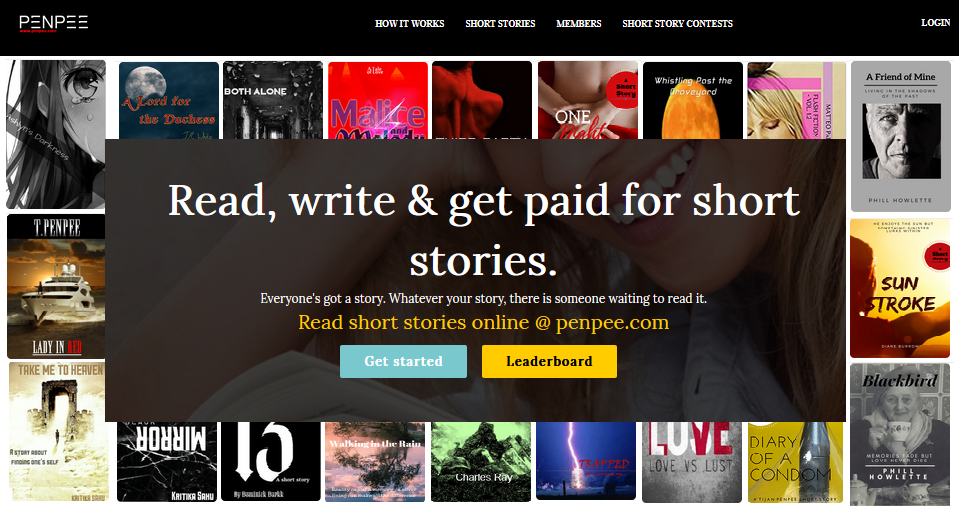 A platform that allows you to write short stories for money, like an Airbnb for writers.