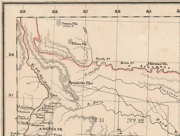 Map Of Northern Texas.Map Of The Republic Of Texas Donated To Texas General Land Office