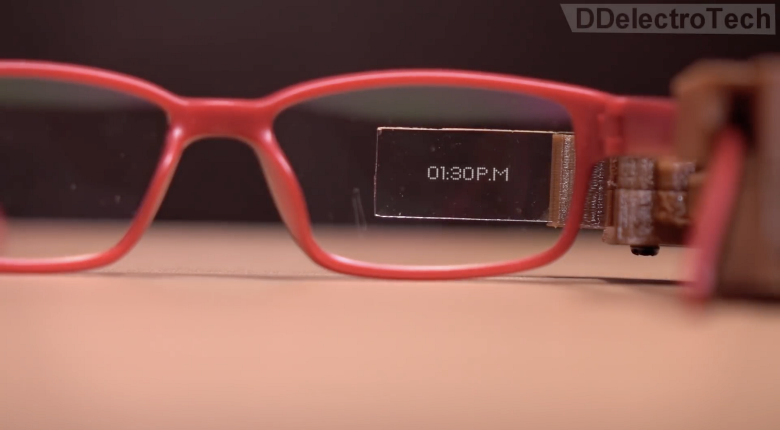 Diy google glass for under 10 hackster blog his wearable project uses an arduino pro mini with an oled display module to present info from the users smartphone on a piece of transparent glass ccuart Image collections