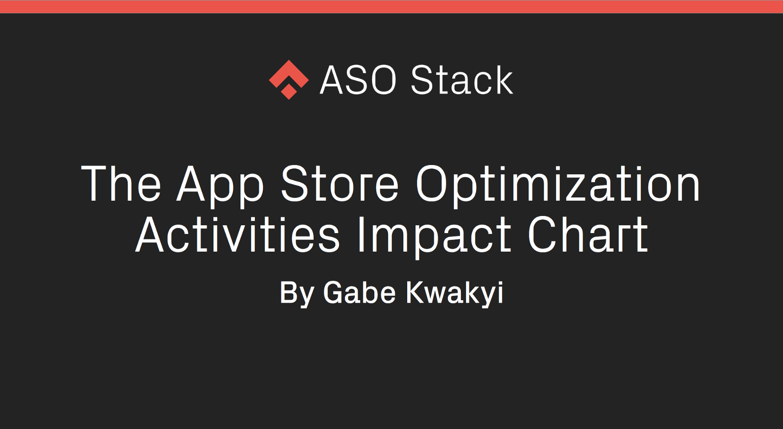 The App Store Optimization Activities Impact Chart – App Store ...